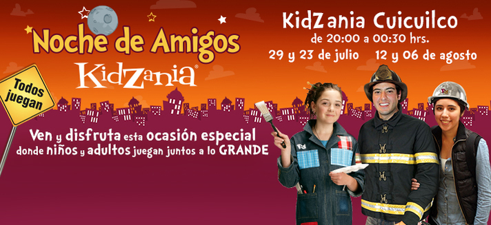Picture of children having fun at KidZania Cuicuilco.