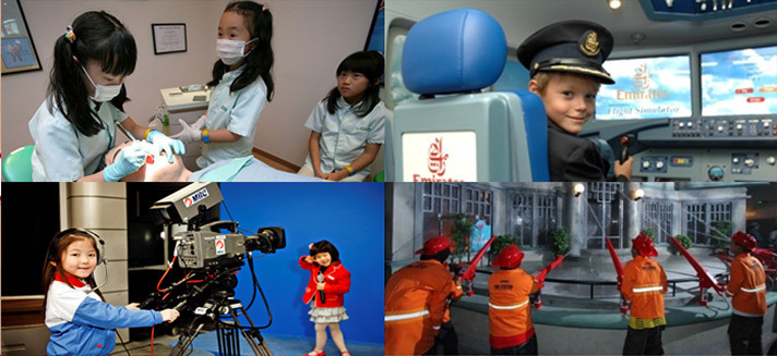 image of many role playing opportunities at KidZania